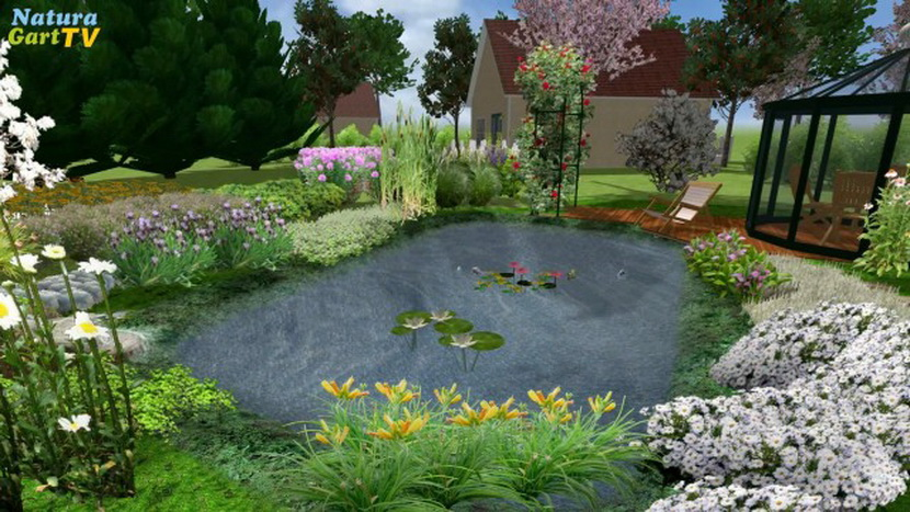 tv | videos von naturagart über teichplanung, teichbau, Hause und Garten