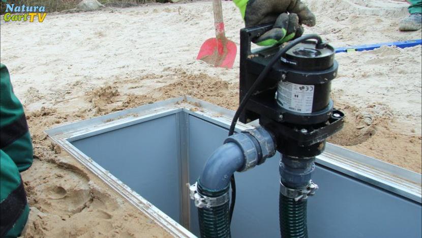 Geliebte Pumpenschacht außerhalb des Teiches   Teiche richtig bauen &MG_37